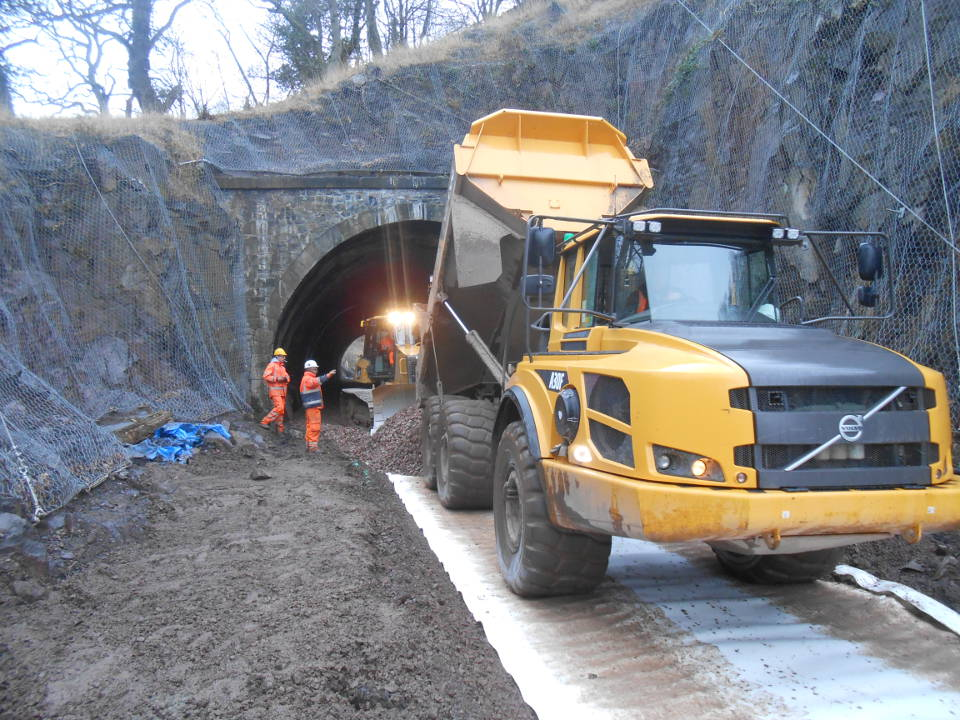 howley contracts rossmore civils uk ireland transport borders railway track tunnel